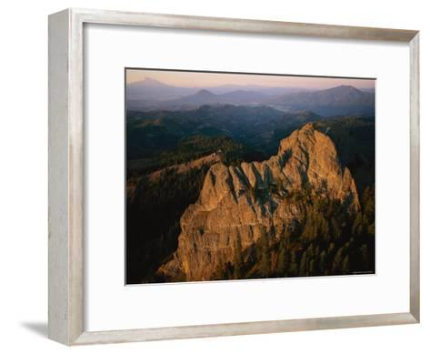 Aerial View of a Mountainside at Twilight-Melissa Farlow-Framed Art Print