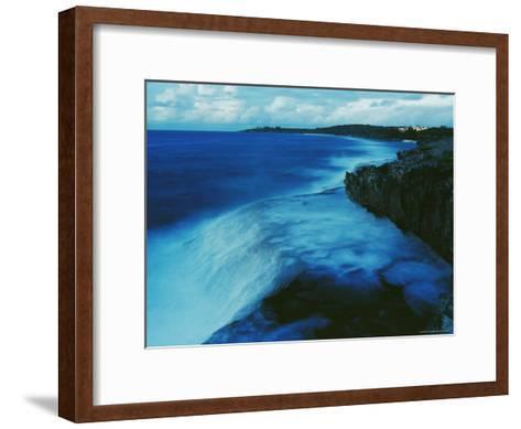 Waves Crash against a Reef-Sisse Brimberg-Framed Art Print