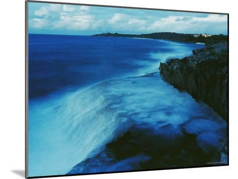 Waves Crash against a Reef-Sisse Brimberg-Mounted Photographic Print