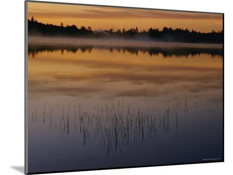 A Curtain of Mist Veils the Surface of Kidney Pond-Phil Schermeister-Mounted Photographic Print