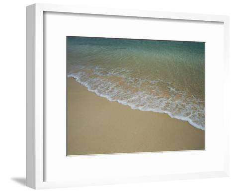 A View of Surf Creeping up onto a Beach-Todd Gipstein-Framed Art Print