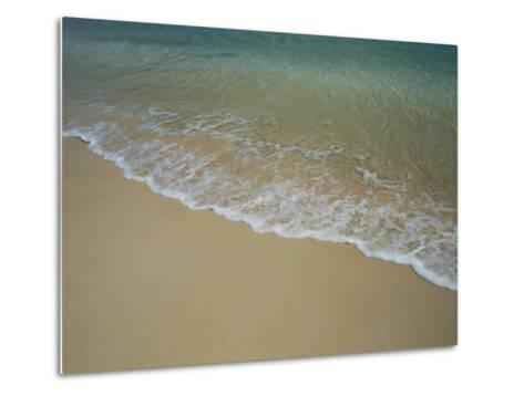 A View of Surf Creeping up onto a Beach-Todd Gipstein-Metal Print