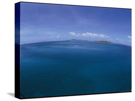 The Turquoise Ocean Photographed from the Mast of a Boat-Todd Gipstein-Stretched Canvas Print