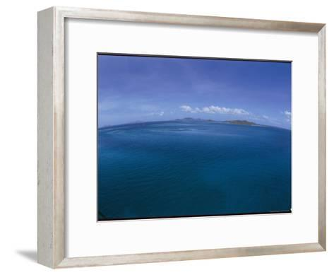 The Turquoise Ocean Photographed from the Mast of a Boat-Todd Gipstein-Framed Art Print