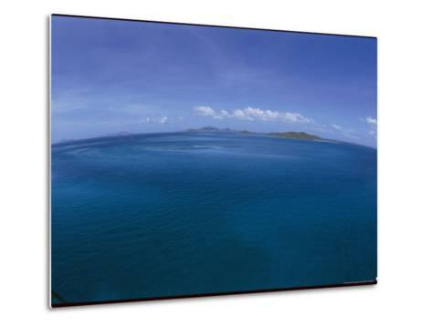 The Turquoise Ocean Photographed from the Mast of a Boat-Todd Gipstein-Metal Print