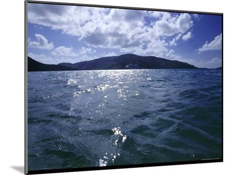 A Cruise Ship Sails Past an Island-Todd Gipstein-Mounted Photographic Print