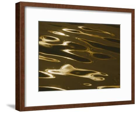 Ripples of Water Reflect the Setting Sun-Todd Gipstein-Framed Art Print