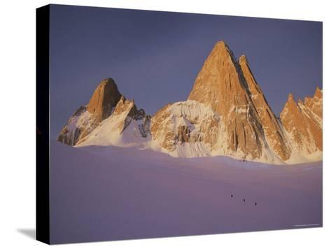 View of Cerro Fitzroy (Center) and Surrounding Peaks-Bobby Model-Stretched Canvas Print