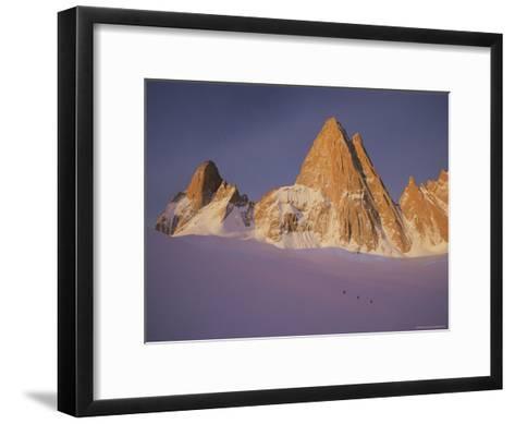 View of Cerro Fitzroy (Center) and Surrounding Peaks-Bobby Model-Framed Art Print