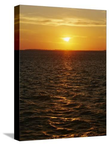 A View of Tampa Bay Taken at Sunset from the Sunshine Skyway Bridge-Raymond Gehman-Stretched Canvas Print