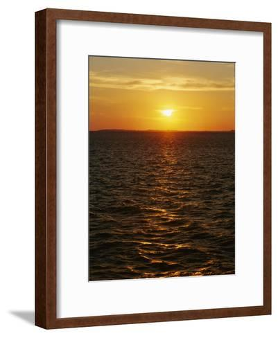A View of Tampa Bay Taken at Sunset from the Sunshine Skyway Bridge-Raymond Gehman-Framed Art Print