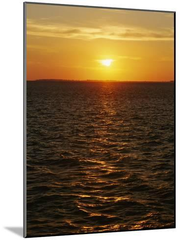 A View of Tampa Bay Taken at Sunset from the Sunshine Skyway Bridge-Raymond Gehman-Mounted Photographic Print