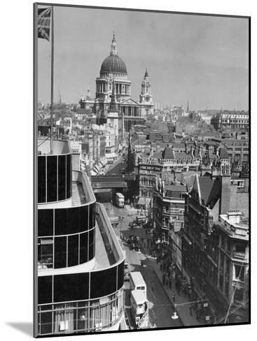 Elevated View of Fleet Street and Saint Pauls Cathedral-W^ Robert Moore-Mounted Photographic Print