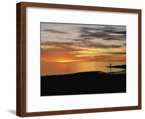 Sunset over a Distant Fisherman-Clarita Berger-Framed Art Print