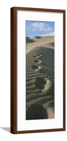 Footprints in the Sand-Bill Hatcher-Framed Art Print