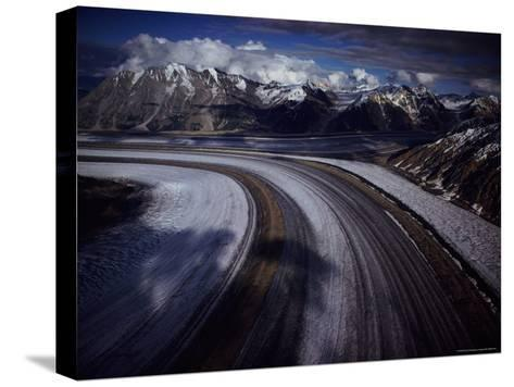 Overview of the 45-Mile-Long Kaskawulsh Glacier-Sam Abell-Stretched Canvas Print