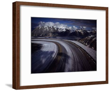 Overview of the 45-Mile-Long Kaskawulsh Glacier-Sam Abell-Framed Art Print
