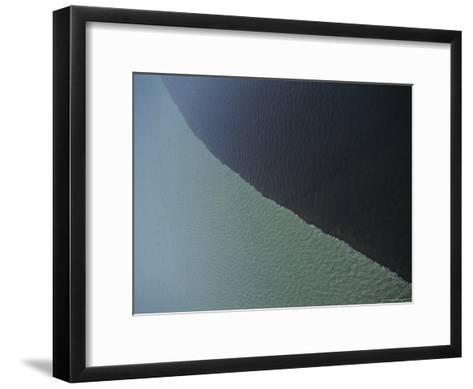 The Waters of the Jardine and the Gulf Contrast Dramatically-Sam Abell-Framed Art Print