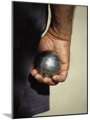 Bocce Bowler Holding a Ball-Nicole Duplaix-Mounted Photographic Print