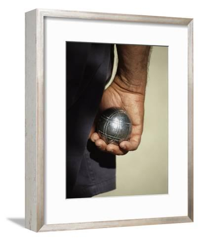 Bocce Bowler Holding a Ball-Nicole Duplaix-Framed Art Print