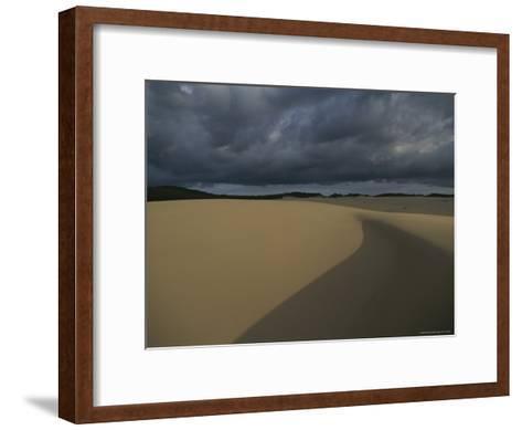 Sand Dunes on Fraser Island-Sam Abell-Framed Art Print