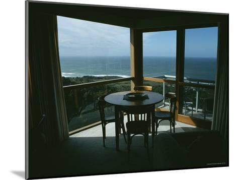 Restaurant Overlooking a Harbor in Victoria, Australia-Sam Abell-Mounted Photographic Print
