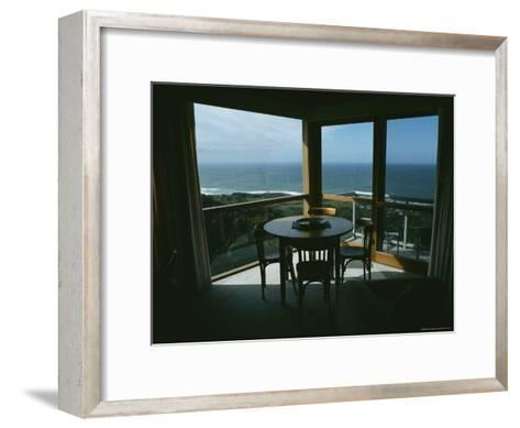 Restaurant Overlooking a Harbor in Victoria, Australia-Sam Abell-Framed Art Print