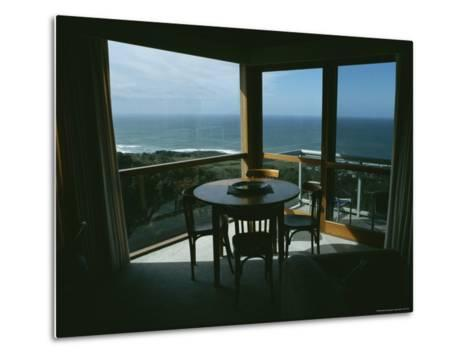 Restaurant Overlooking a Harbor in Victoria, Australia-Sam Abell-Metal Print