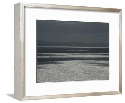 A Fishing Boat on the Vast Waters of Alitak Bay-George F^ Mobley-Framed Art Print