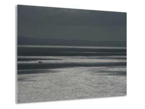 A Fishing Boat on the Vast Waters of Alitak Bay-George F^ Mobley-Metal Print