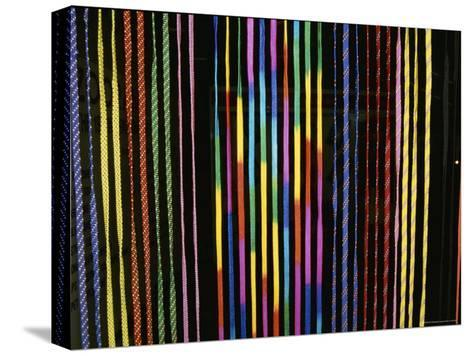 Colorful Strings in a Shop in Manila-Wolcott Henry-Stretched Canvas Print