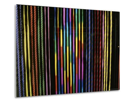 Colorful Strings in a Shop in Manila-Wolcott Henry-Metal Print