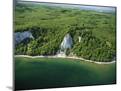 Aerial of Shoreline, Jasmund National Park, Germany--Mounted Photographic Print