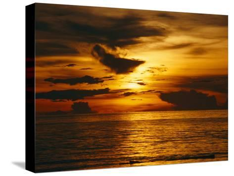 Sunset over Pacific Ocean, Yap Islands, Caroline Islands, Micronesia-Joe Stancampiano-Stretched Canvas Print