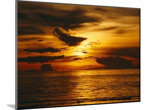 Sunset over Pacific Ocean, Yap Islands, Caroline Islands, Micronesia-Joe Stancampiano-Mounted Photographic Print