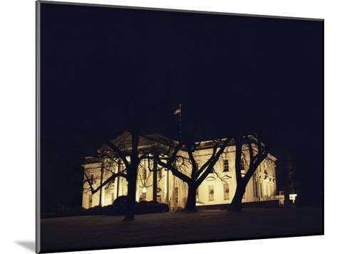 A Night View of the White House Decorated for the Holidays-Medford Taylor-Mounted Photographic Print