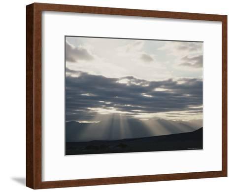 Sunrise in Death Valley, with Amargosa Range in Background-Gordon Wiltsie-Framed Art Print