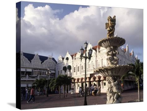 Shopping Area, Oranjestad, Aruba-Pat Canova-Stretched Canvas Print