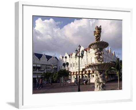 Shopping Area, Oranjestad, Aruba-Pat Canova-Framed Art Print