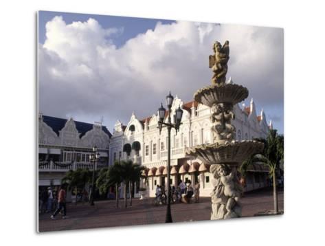 Shopping Area, Oranjestad, Aruba-Pat Canova-Metal Print