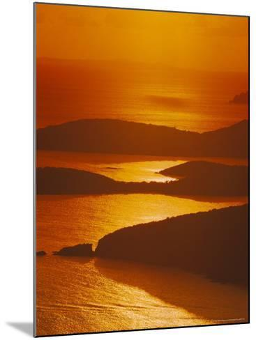 Sun Setting Over Harbor, St. Thomas, VI-Jim Schwabel-Mounted Photographic Print