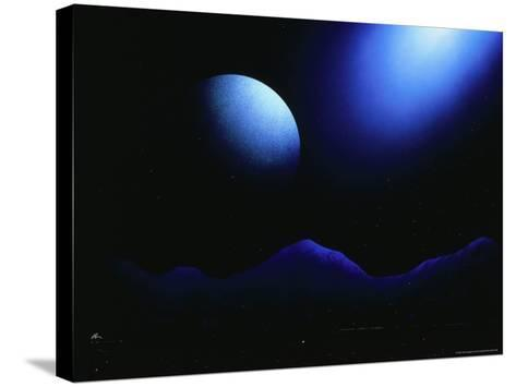 Illustration of Landscape with Rising Moon-Ron Russell-Stretched Canvas Print
