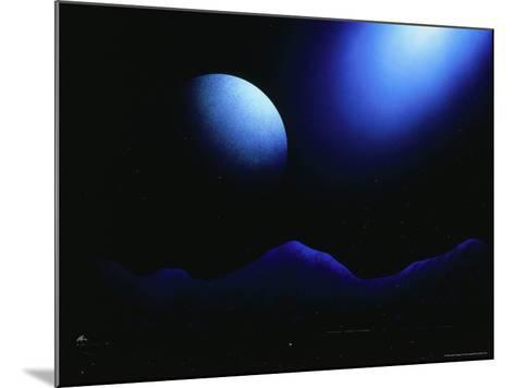 Illustration of Landscape with Rising Moon-Ron Russell-Mounted Photographic Print