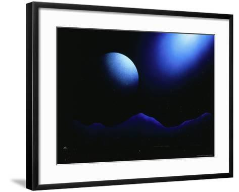 Illustration of Landscape with Rising Moon-Ron Russell-Framed Art Print