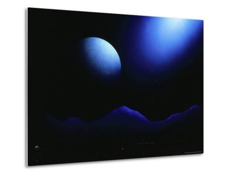 Illustration of Landscape with Rising Moon-Ron Russell-Metal Print