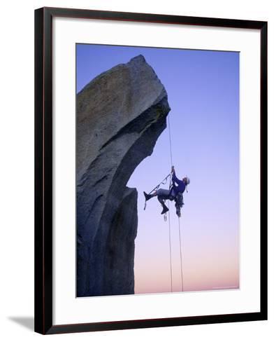 Rock Climbing, the Needles, CA-Greg Epperson-Framed Art Print