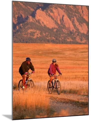 Couple Mountain Biking, CO-Chris Rogers-Mounted Photographic Print