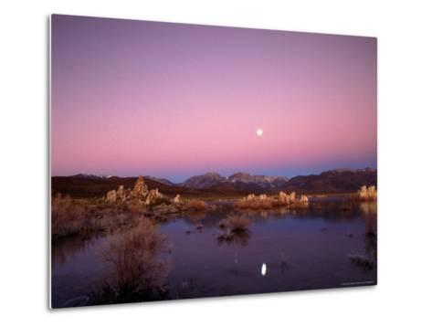 Moon Over Sierra Mountain Range, CA-Kyle Krause-Metal Print