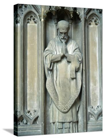 Sculpture of a Saint, UK-Ron Russell-Stretched Canvas Print
