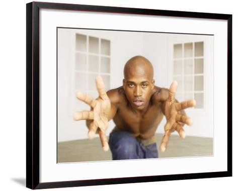 African-American Man Coming Towards Viewer-Jim McGuire-Framed Art Print